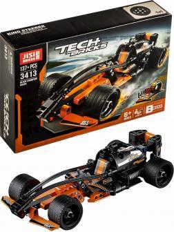 Конструктор JiSi Bricks «Гонка Black Champion» с инерционным механизмом 3413 (Technic 42026) / 137 деталей