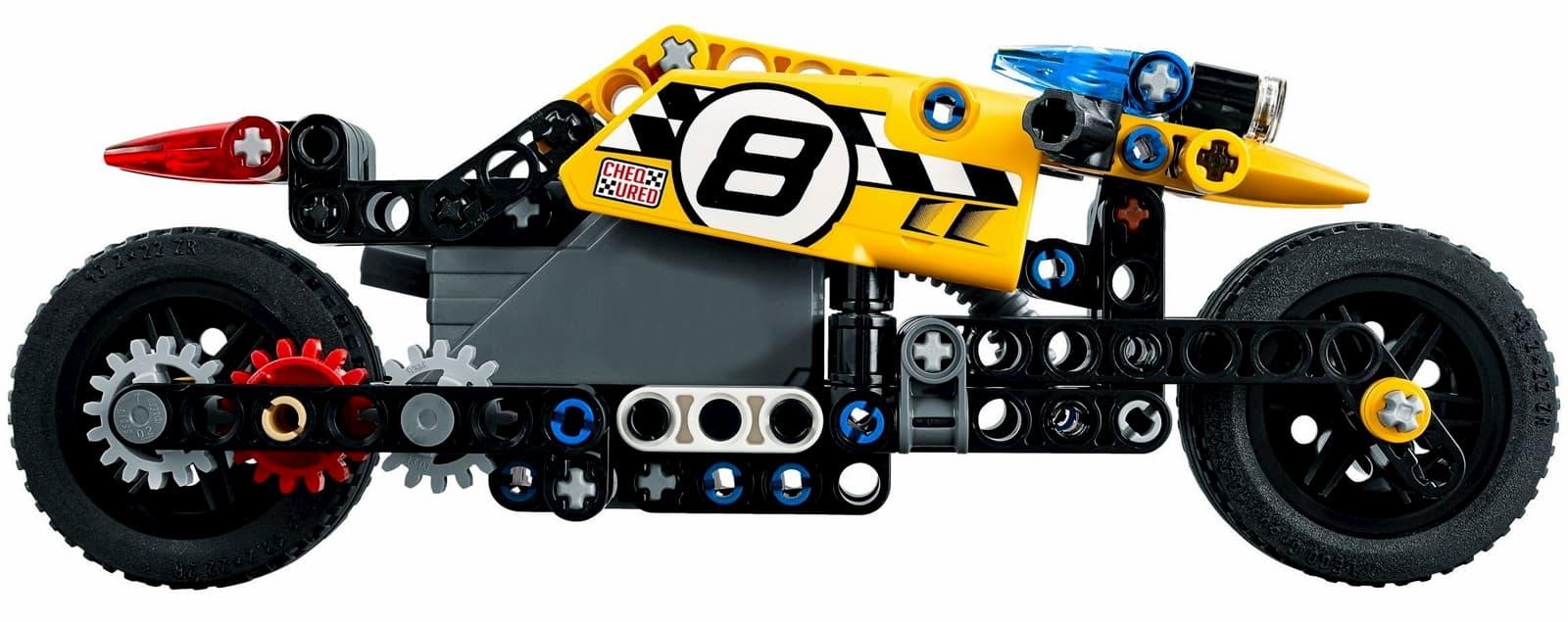 Конструктор JiSI Bricks «Трюковый мотоцикл» 3419 (Technic 42058) / 140 деталей