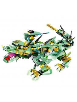 Конструктор MOULD KING «Зеленый дракон» на радиоуправлении 13022 (Technic), 515 деталей