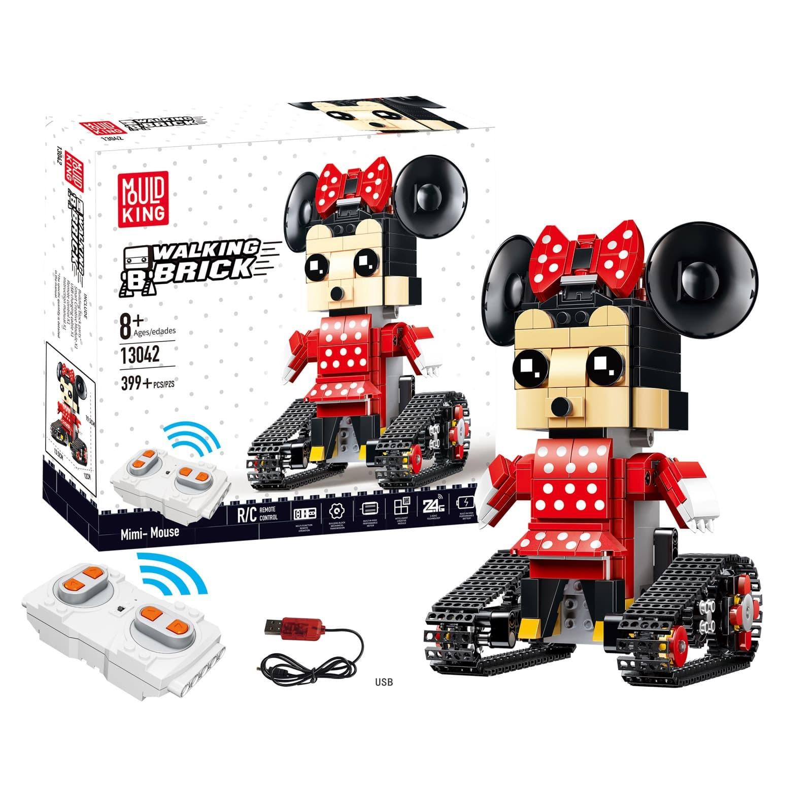 Конструктор Mould King «Mimi Mouse» на радиоуправлении 13042 (BrickHeadz 41625), 399 деталей