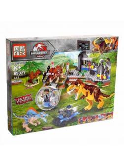 Конструктор PRCK «Побег от Динозавров» 69021 (Jurassic World) / 443 детали