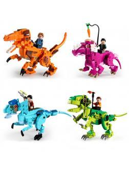 Конструктор Sheng Yuan 4 в 1 «Наездники динозавров» SY 1503 (Jurassic World) комплект 4 шт.