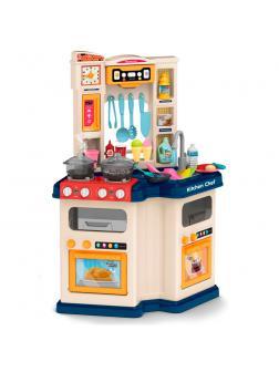 Детская игровая кухня с буфетом, со светом,с водичкой, 67 аксессуаров, высота 74 см., 922-113 / Talented Chef Kitchen