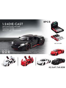 Машина металлическая Maserati (цена за 1шт) в ассортименте