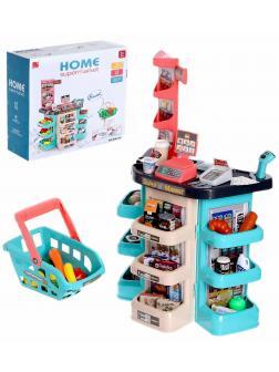 Детский игровой модуль Home Supermarket «Супермаркет» 668-86, 47 аксессуаров, высота 79 см.