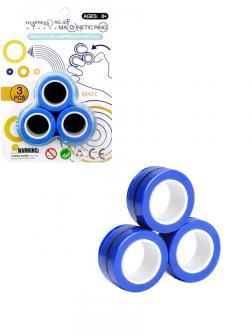 Магнитные кольца антистресс «Magnetic Ring» 3 шт. / Микс