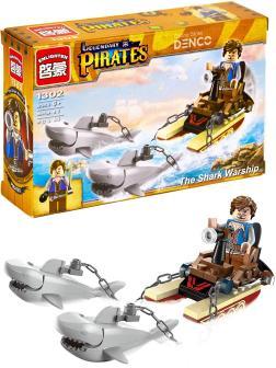 Конструктор Enlighten «Акулья упряжка» 1302 Legendary Pirates / 45 деталей