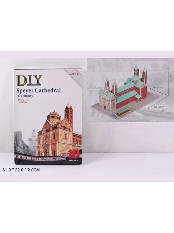 Конструктор 3D-пазл для моделирования «Кельнский костел» 2801-Т / 41 деталь