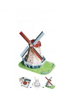 Конструктор 3D-пазл для моделирования «Голландская мельница» 2801-W / 45 деталей