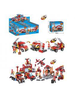 Конструктор COGO 8 в 1 «Пожарная коллекция» 3018-18 (City) комплект 8 шт.