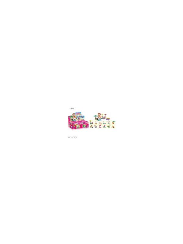 Конструктор JIE STAR 12 в 1 «Benign Girl» 33001 (Friends) комплект 12 шт.