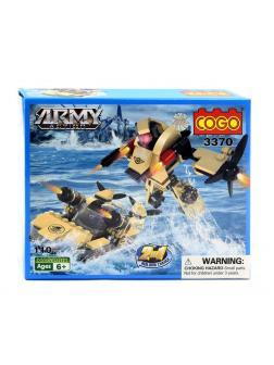 Конструктор COGO Army Трансформер 2 в 1 «Робот-боевой катер» 3370 / 110 деталей