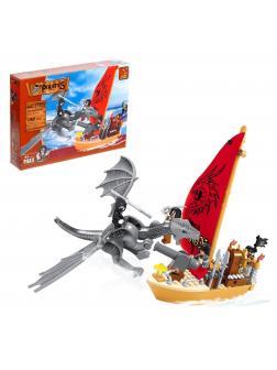 Конструктор «Нападение Дракона на пиратский корабль» 27405 / 132 детали