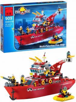 Конструктор Enlighten «Корабль пожарной службы» 909 Fire Rescue / 361 деталь