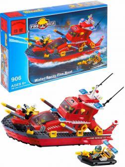 Конструктор Enlighten «Пожарный катер» 906 Fire Rescue / 340 деталей