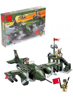 Конструктор Enlighten «Военный самолет бомбардировщик» 810 Combat Zones /  225 деталей