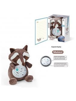 Мягкая игрушка-ночник «Енот» с проектором и музыкой / MBQ661-11A