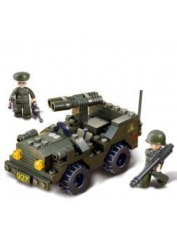Конструктор Sluban «Сухопутные войска: Джип с установкой» M38-B5800 / 102 детали