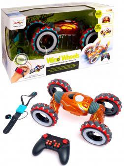 Радиоуправляемая дрифт машинка-перевертыш 1:10 «Wind wheels» 99003-1А, управление жестами / Микс