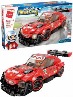 Конструктор Qman «Гоночный автомобиль Red Light GT-07» 4201-2 Mine City: Racing Car Series / 202 детали