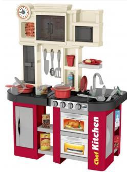 Детская игровая кухня с буфетом, со светом, с водичкой, 58 аксессуаров, высота 84 см., 922-103 / Talented Chef Kitchen