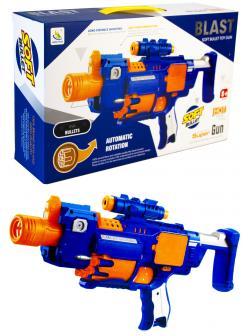 Автоматический штурмовой бластер 8-ми зарядный с мягкими пулями «Super Gun» К9928
