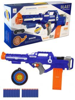 Автоматический бластер «Воин света 2.0», с мишенью, стреляет мягкими пулями, работает от батареек 9924