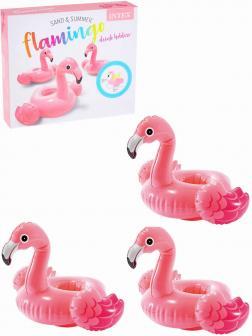 Набор держателей для напитков плавающий Intex «Фламинго» 57500NP, 20 х 25 см., 3 штуки