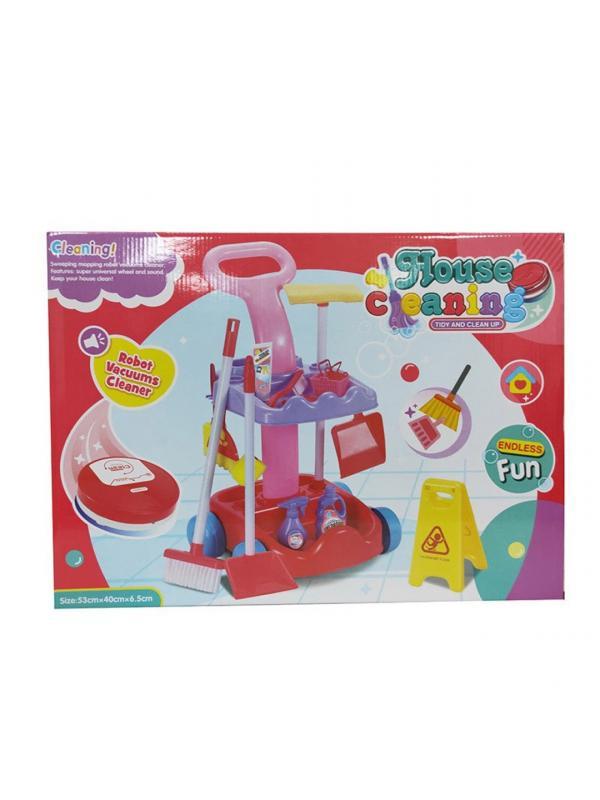 Игровой набор для девочек «Большая уборка» с тележкой