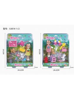 Кукла на самокате с домашним питомцем «GAGA Love» / 53814-1/2