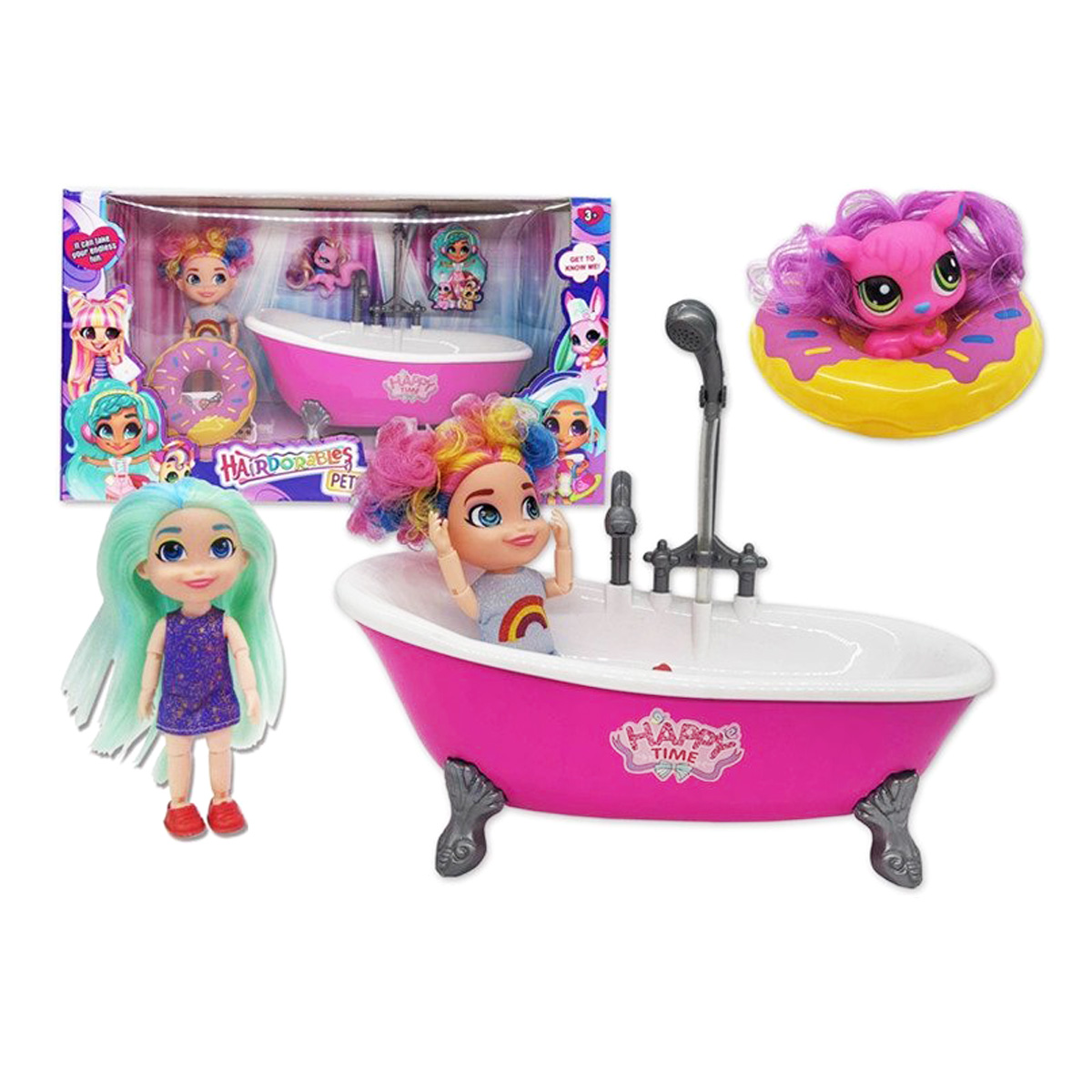 Игровой набор Hairdorables «Ванная комната» с питомцем / HC263723