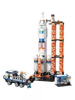 Конструктор QMAN «Запуск шаттла в Космос» 1140 /  632 деталей