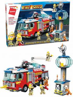 Конструктор Qman «Пожар в аэропорту» 2809 Fire Rescue / 647 деталей