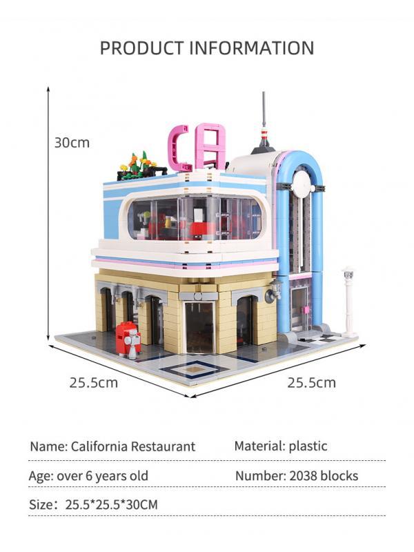 Конструктор Mould King «Ресторан Калифорния» 16001 (MOC 32566) / 2076 деталей