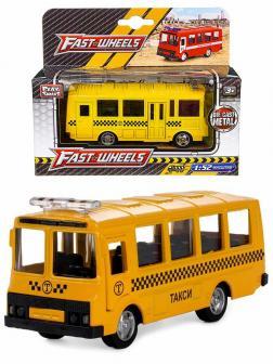 Металлическая машинка Play Smart 1:52 «ПАЗ 3237 Маршрутное такси» 12 см. 6523-E Автопарк, инерционная