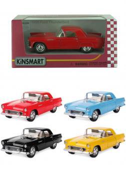 Машинка металлическая Kinsmart 1:36 «1955 Ford Thunderbird» KT5319D инерционная / Микс
