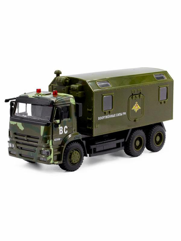 Машина инерционная Play Smart 1:38 «Камаз 65115 Вооруженные силы» 17 см. 9622-A Спецназ, свет и звук