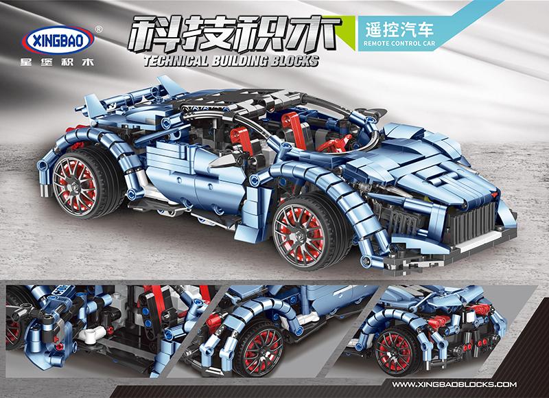 Конструктор XingBao «Lamborghini Racing Car RC» XB-21001 на радиоуправлении / 914 деталей
