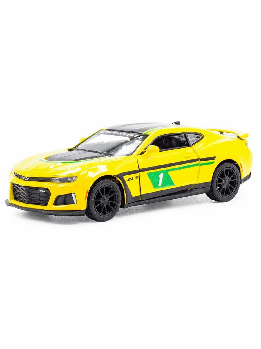 Машинка металлическая Kinsmart 1:38 «2017 Chevrolet Camaro ZL1 (Livery Edition)» KT5399DPR инерционная / Микс
