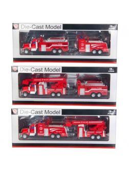 Металлическая машинка 1:70 «Пожарная машина с прицепом» А358А7 / Микс