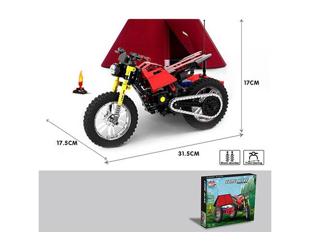 Конструктор Pingao Blocks «Кемпинговый мотоцикл Come Alive» 50001 / 547 деталей
