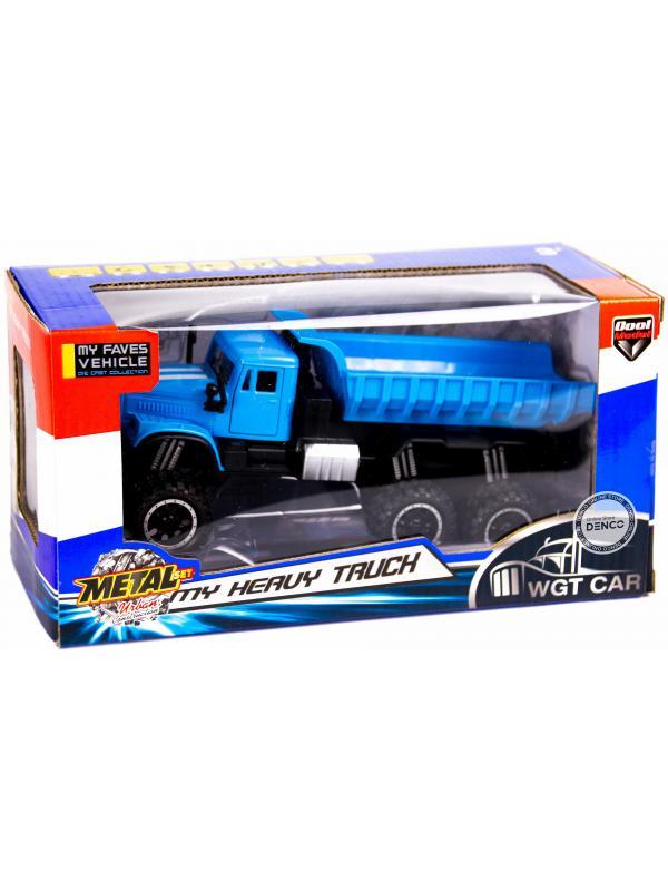 Металлическая машинка WGT Car 1:32 «Грузовик КРАЗ: внедорожник самосвал» 2217-7, Свет, Звук / Микс