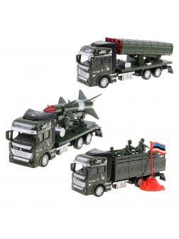 Металлическая машинка 1:48 «Военная техника» А2211-5А / Микс