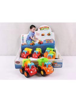 Машинка пластмассовая инерционная Play Smart «Спецтехника» 9165 / Микс