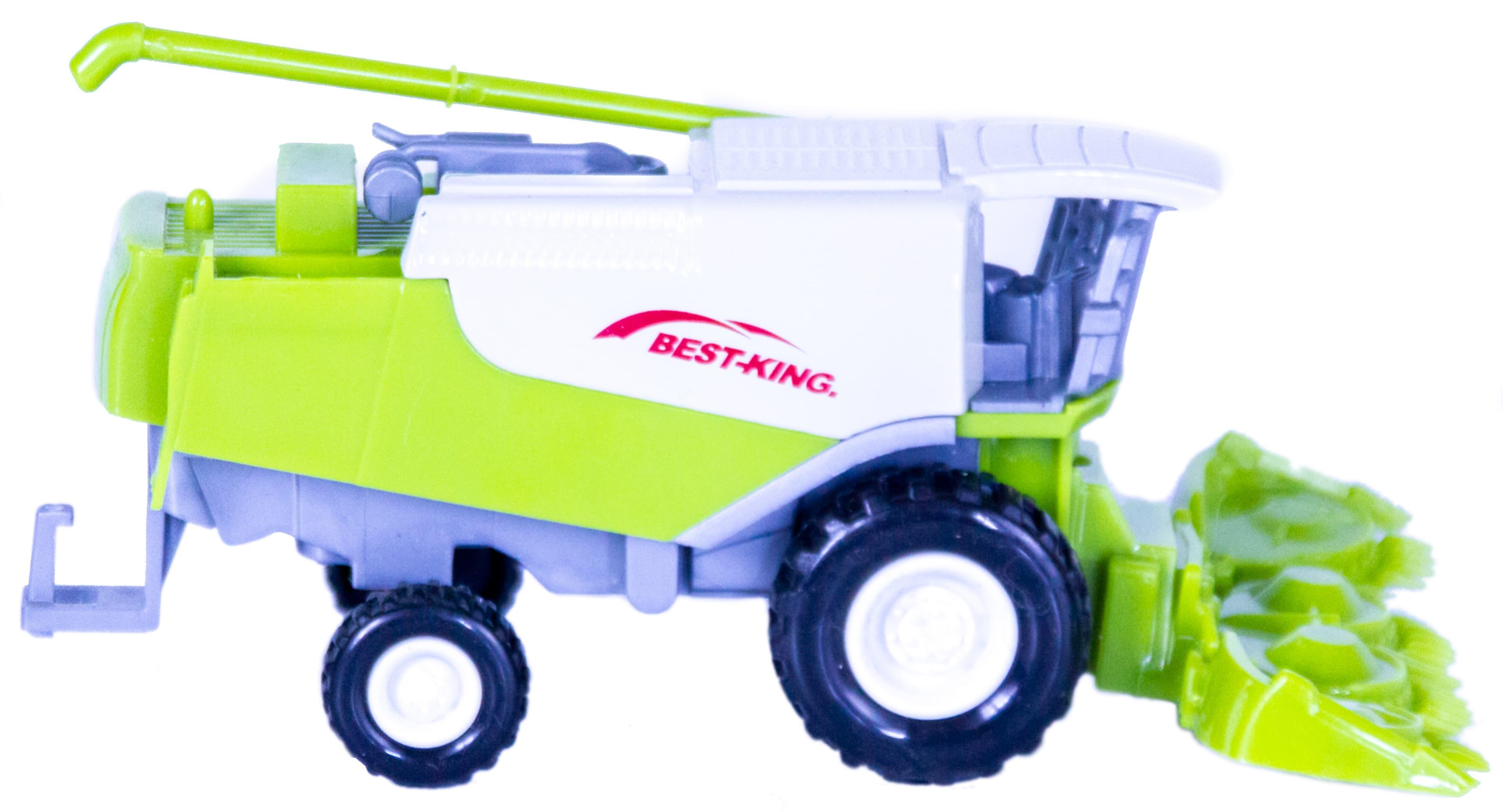 Металлическая машинка Farm «Зерноуборочный комбайн Best-King» 10 см. А955-189 инерционная
