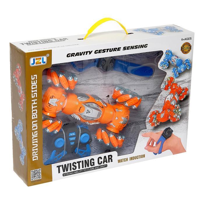 Машинка-перевёртыш «Twisting Car» 27 см, на радиоуправлении, свет и звук М3266 / Микс
