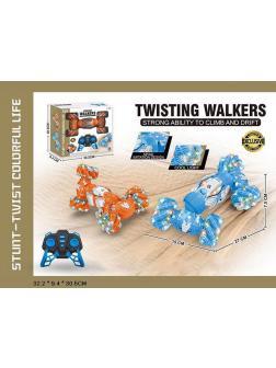Машинка-перевертыш «Twisting Walkers» 27 см, на радиоуправлении, со светом и звуком М3166 / Микс