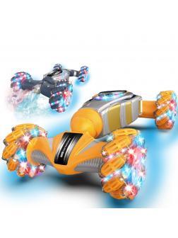 Машинка-перевертыш «Sprays Twist» на радиоуправлении, со светом и звуком М2966 / Микс