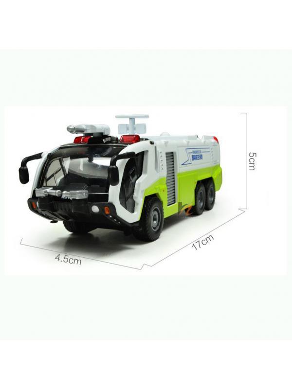 Металлическая машинка 1:54 «Служба аэропорта» А620026 свет и звук, инерционная / Микс