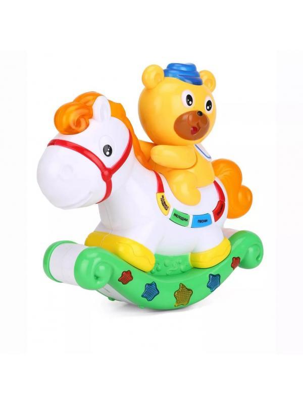 Музыкальная игрушка-проектор Play Smart «Медвежонок и лошадка» 7481 со сказками